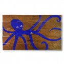 BLUE OCTOPUS WALL ART
