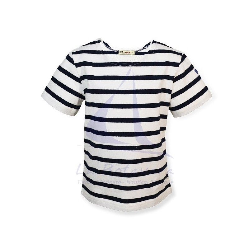 WHITE & NAVY BATELA T-SHIRT