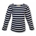 NAVY BLUE & WHITE LONG SLEEVE BATELA T-SHIRT