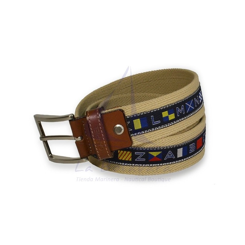 NAUTICAL FLAGS BEIGE BELT