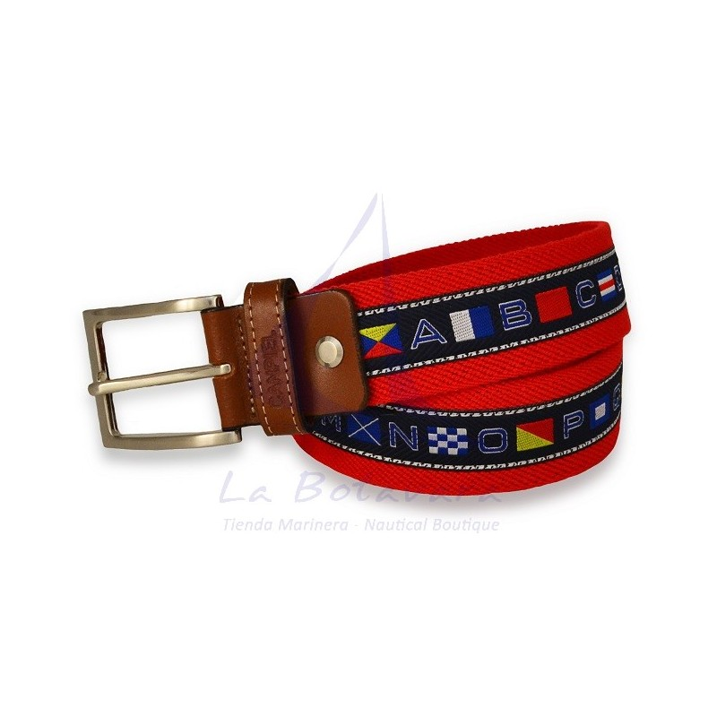 NAUTICAL FLAGS RED BELT