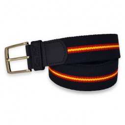 NAVY BLUE BELT WITH SPANISH FLAG