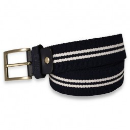 NAVY BLUE & WHITE NAUTICAL BELT