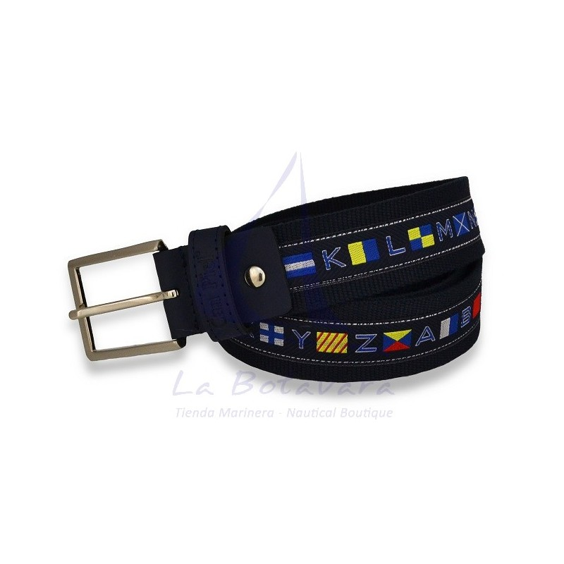 DARK BLUE NAUTICAL FLAGS BELT