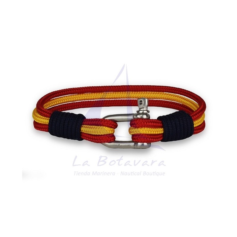 SPANISH FLAG & SHACKLE BRACELET