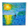 SAILBOAT SUNSET PAINTING