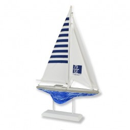 WHITE & BLUE SAILBOAT