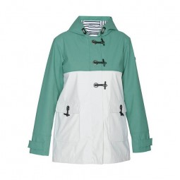 WOMEN'S BATELA BICOLOR EMERALD RAINCOAT