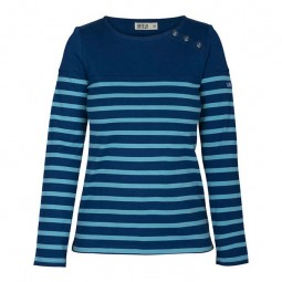 NAVY BLUE & EMERALD LONG SLEEVE WOMEN T-SHIRT