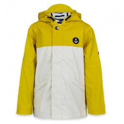 YELLOW BICOLOR BATELA RAINCOAT FOR KID
