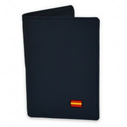 NAVY BLUE WALLET WITH SPANISH FLAG
