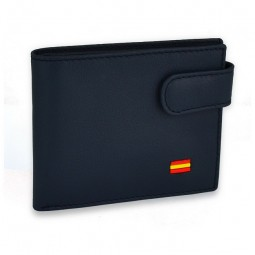 NAVY BLUE WALLET WITH SPANISH FLAG & BUTTON