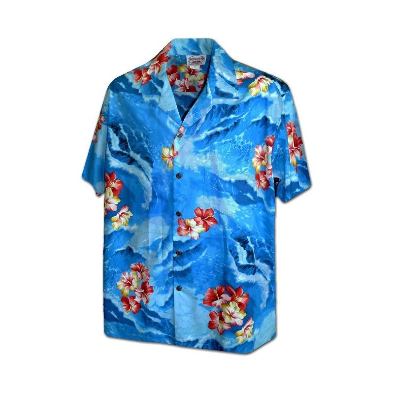 RED FLOWERS PACIFIC LEGEND HAWAIIAN SHIRT