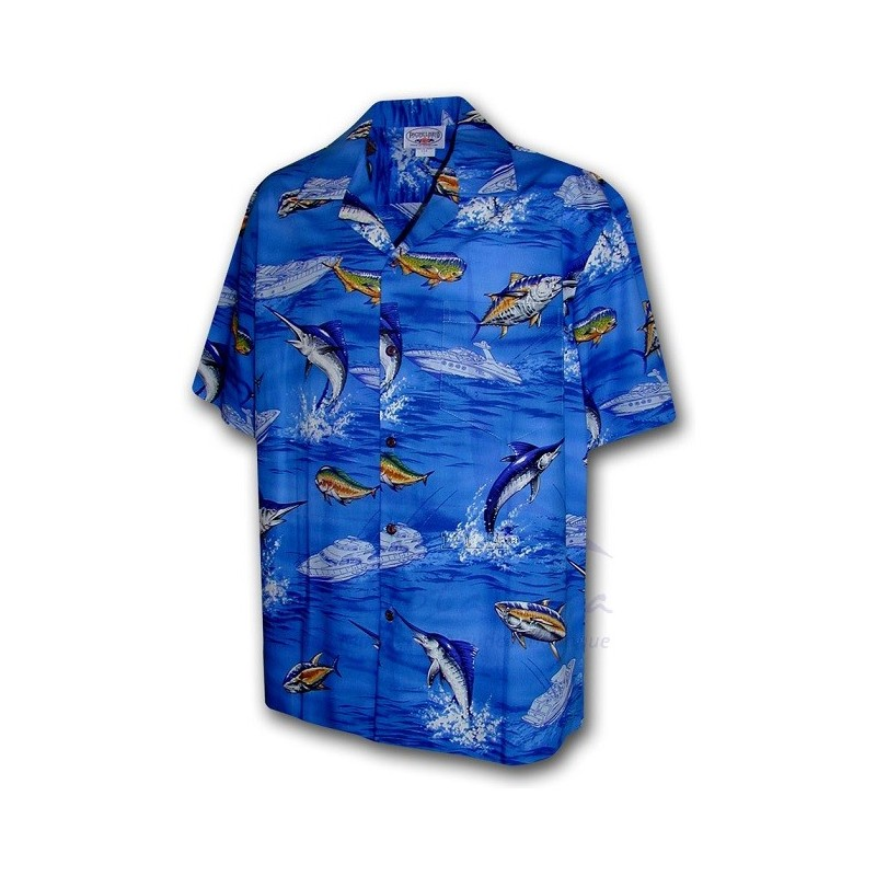 FISH HAWAIIAN SHIRT OF PACIFIC LEGEND