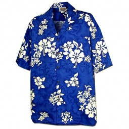 WHITE FLOWERS HAWAIIAN SHIRT