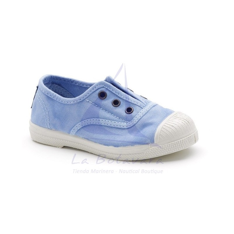 ZAPATILLA INGLES NATURAL WORLD ECOLÓGICA AZUL NUBE BEBE