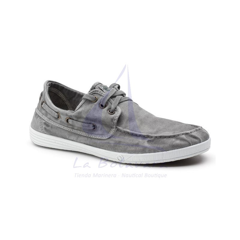Grey Natural World boat shoe