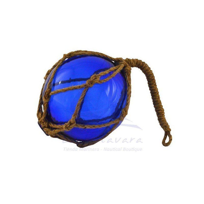 BLUE GLASS FLOAT 15CM