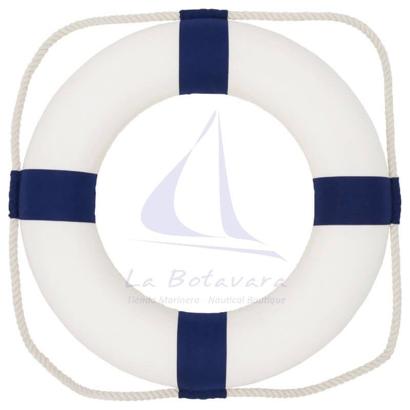Salvavidas blanco y azul 35cm