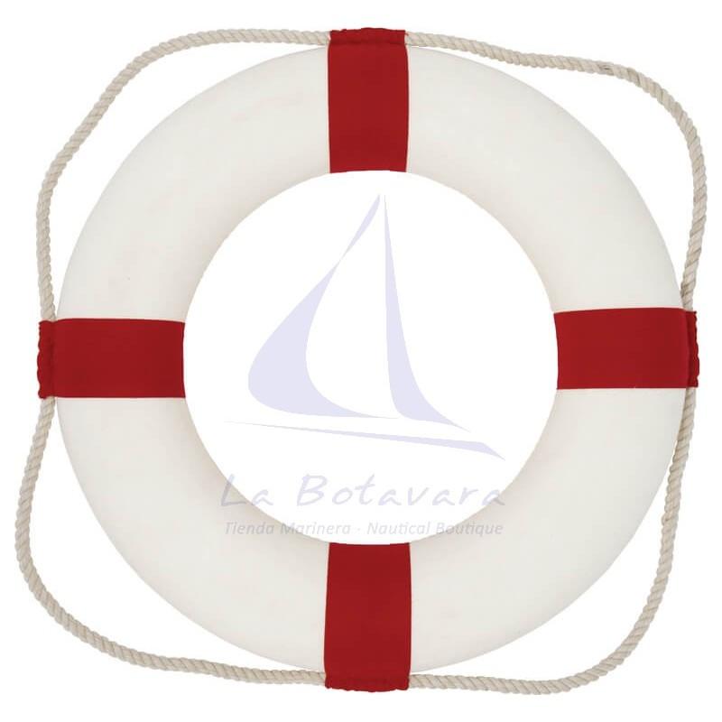 Salvavidas blanco y rojo 35cm