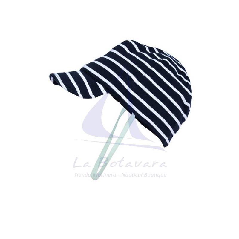 NAVY BLUE & WHITE BATELA BABY CAP