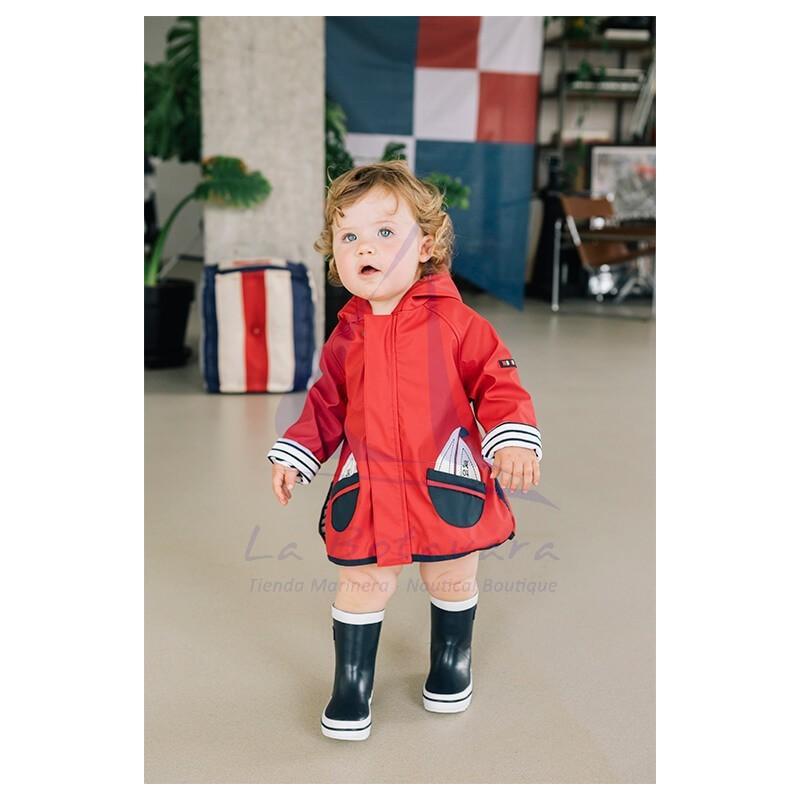 BABY'S RED BATELA RAINCOAT 5