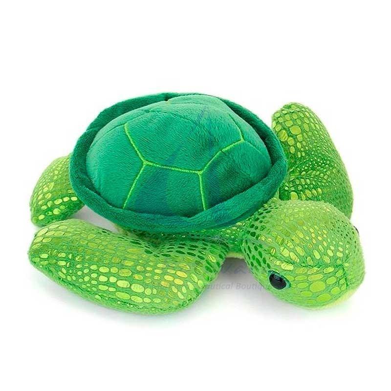 Green turtle plush toy