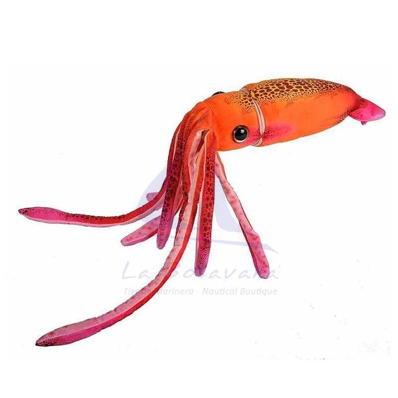 Orange squid plush toy