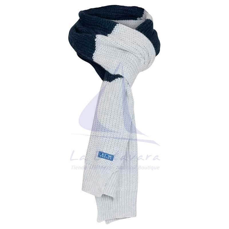 Batela grey and navy blue scarf
