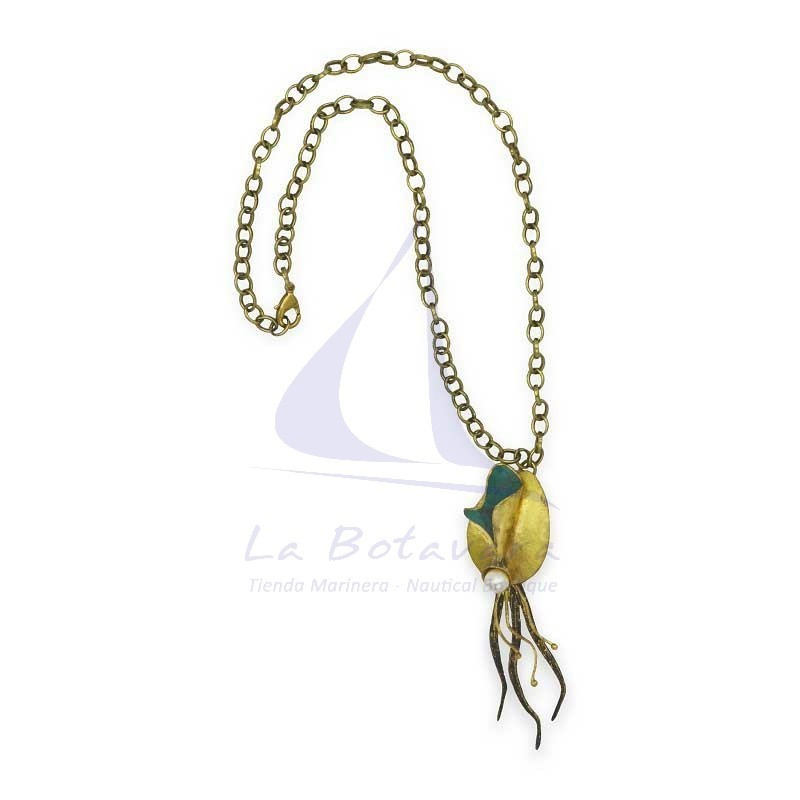 Squid brass necklace