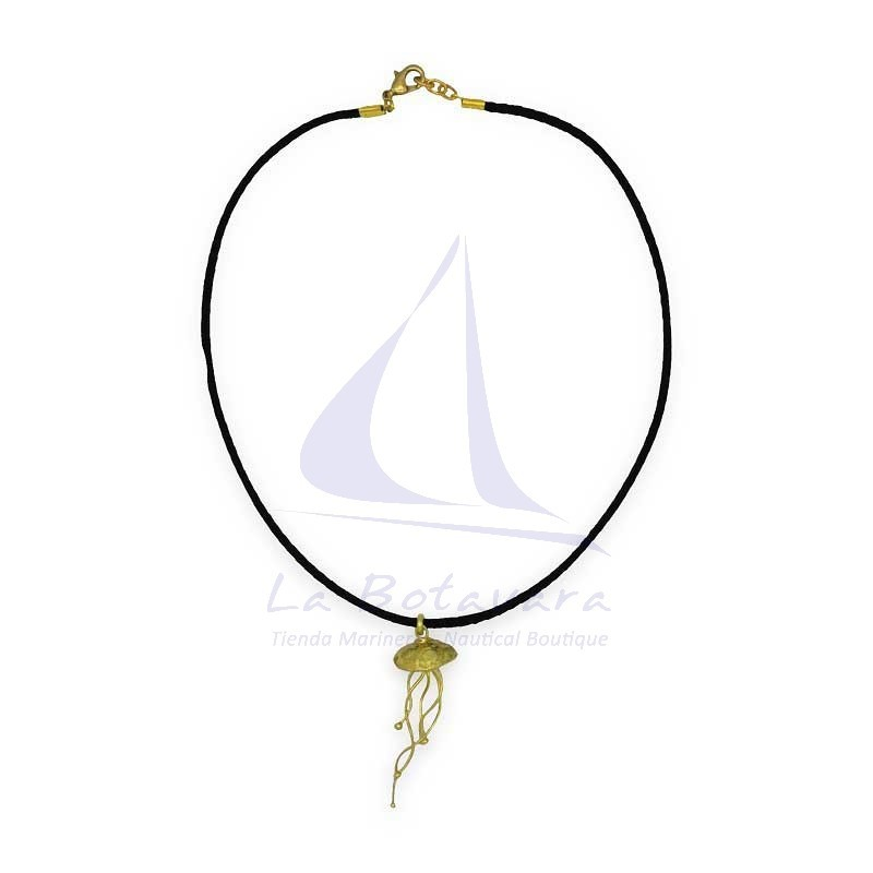 Golden Jellyfish brass pendant