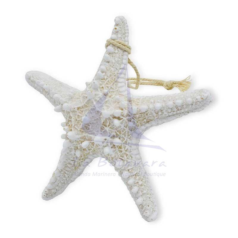 Estrella de mar de resina 15cm blanca