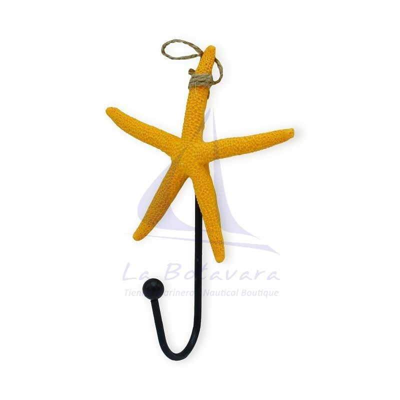 Orange starfish hanger