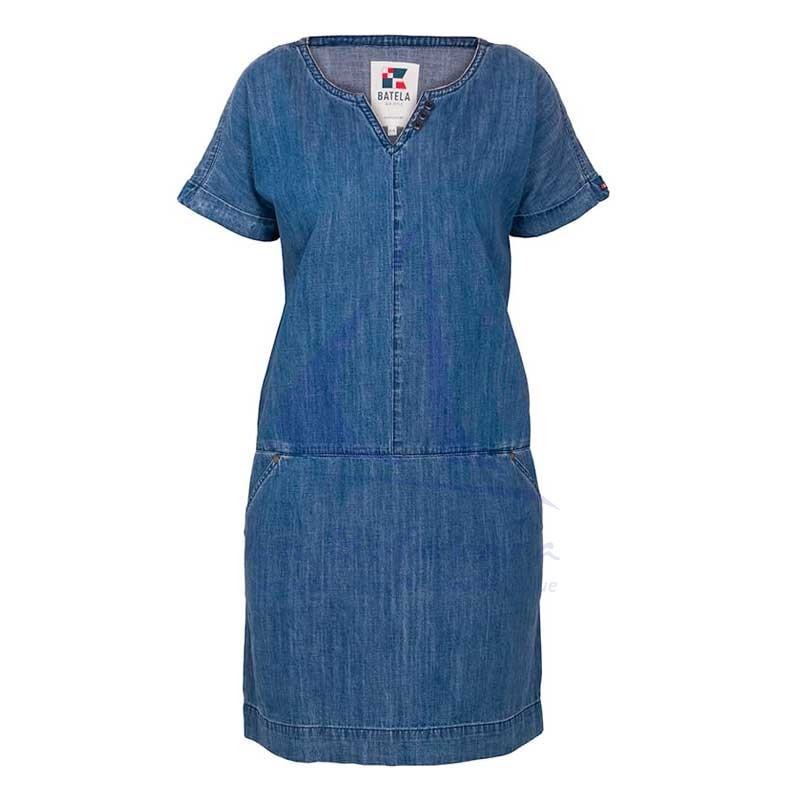 Denim Batela short sleeve dress for woman