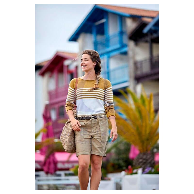 Beige Batela lyocell woman short