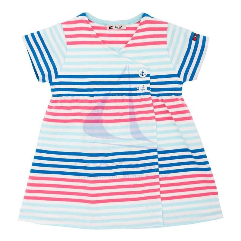 Vestido Batela cruzado de bebe multicolor