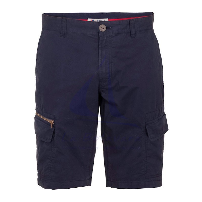 Navy blue Batela cargo shorts for man