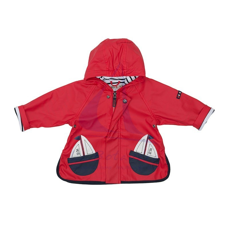 BABY'S RED BATELA RAINCOAT