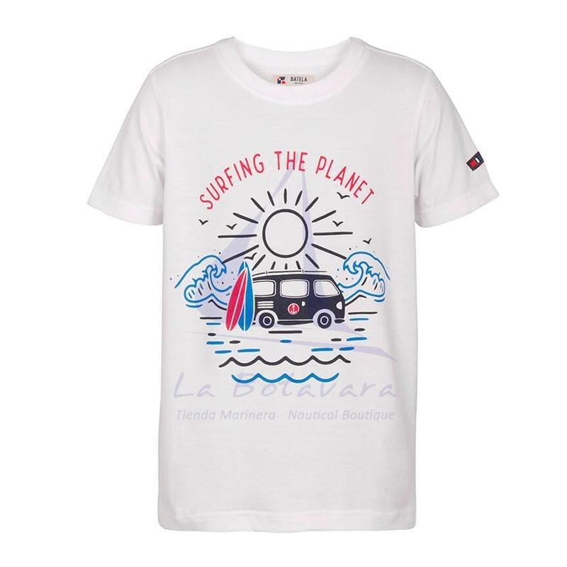 Camiseta Batela niño surfing the planet