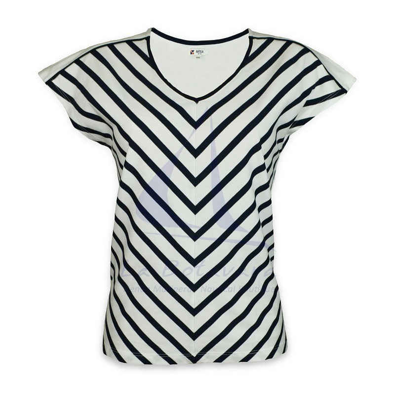 Batela v-striped t-shirt for woman