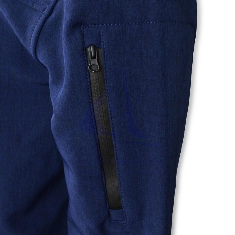 Batela navy blue softshell jacket for man zip