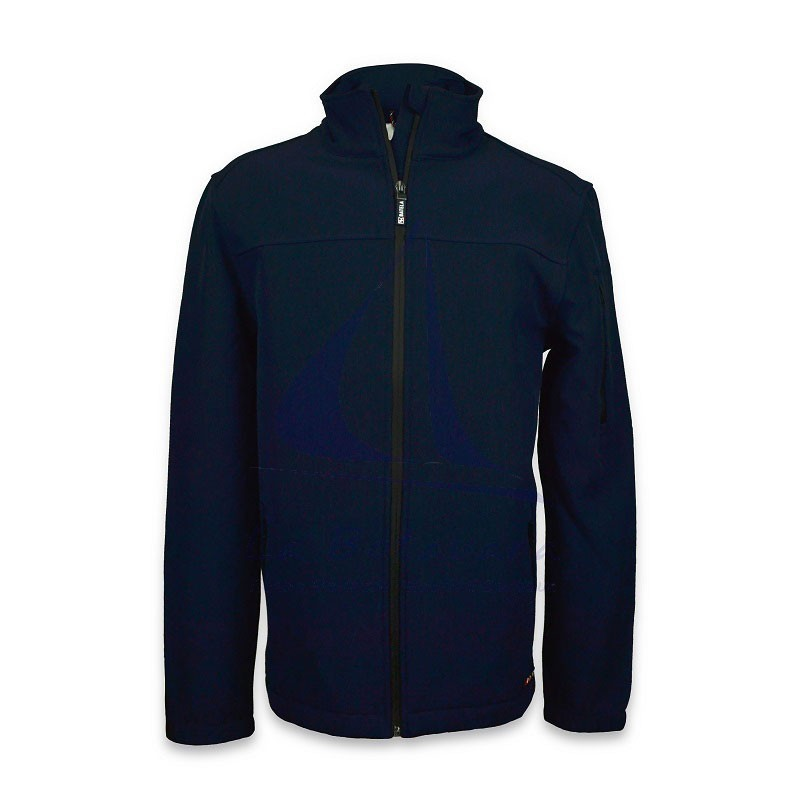 Batela navy blue softshell jacket for man