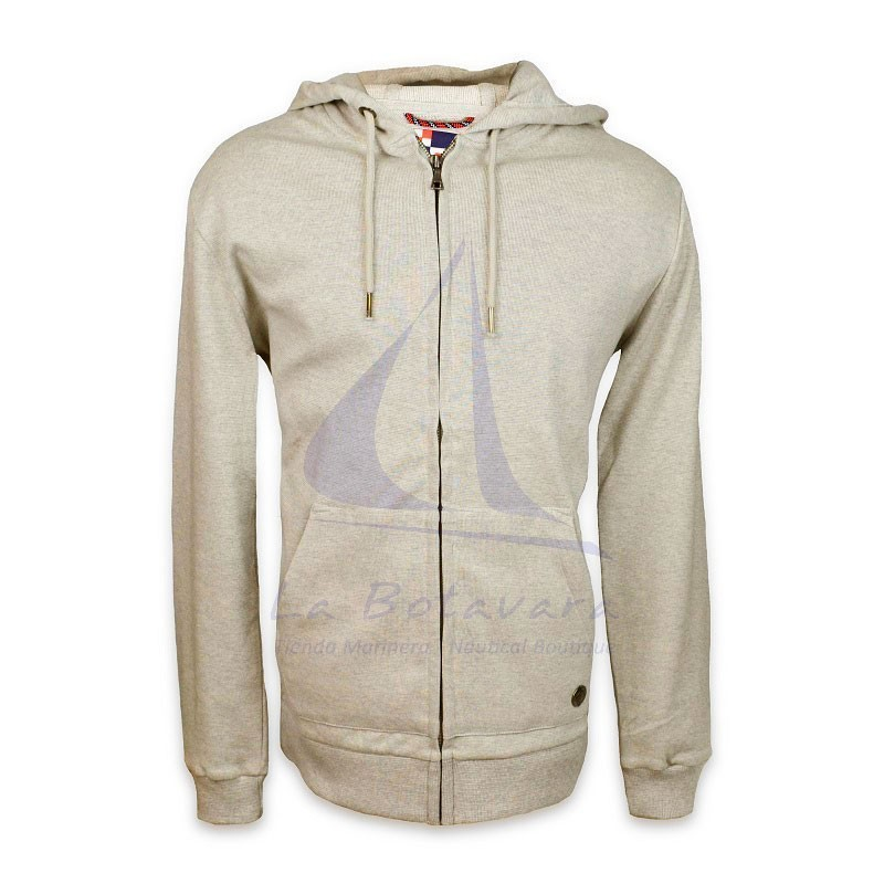 Grey Batela jacket with hood for man