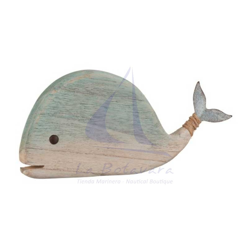 Wooden flat rustic whale