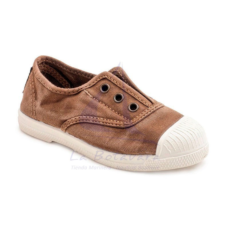 ZAPATILLA INGLES NATURAL WORLD ECOLÓGICA BEIGE BEBE