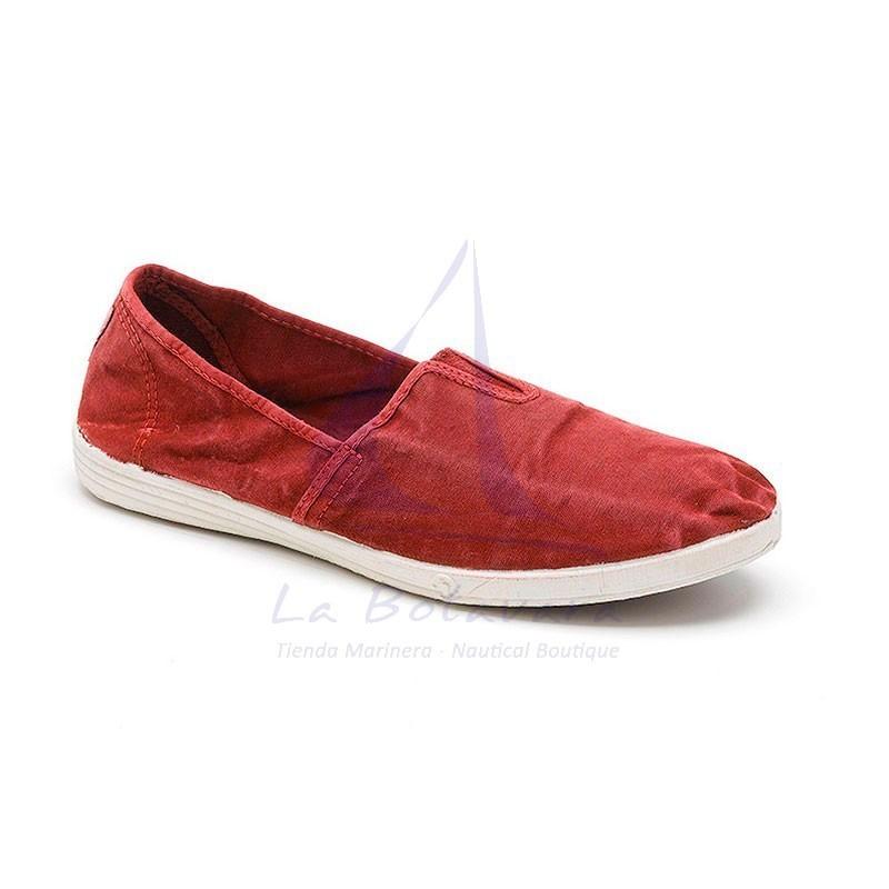 Natural World burdeaux elastic shoe for man