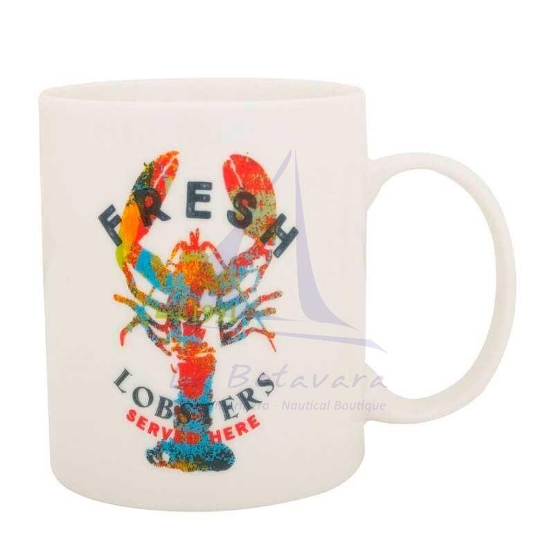 Nautical mug with Fresh Lobster print