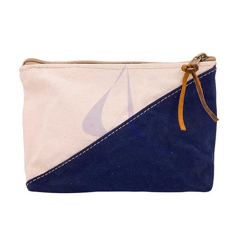 Navy blue Batela two-color nautical toiletry bag.