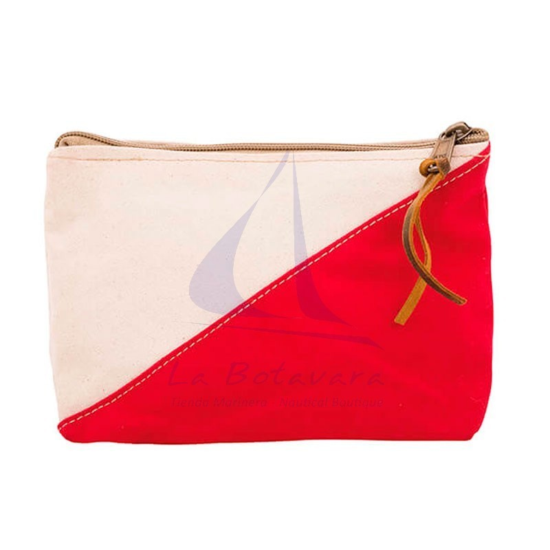 Red Batela two-color nautical toiletry bag.