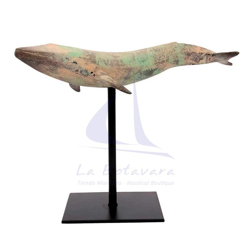 Decorative whale with pedestal